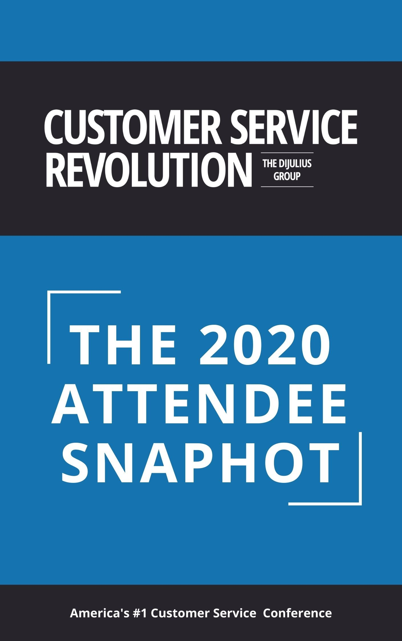 The 2020 Attendee snapshot